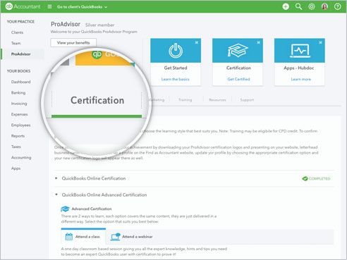 ProAdvisor Certification
