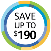 Save up to $190