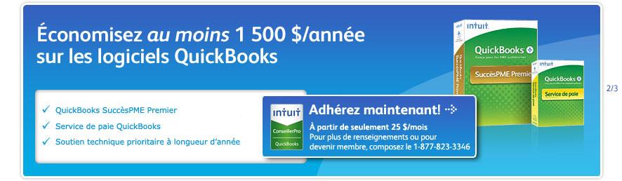 Économisez au moins 1 500 $/année sur les logiciels QuickBooks