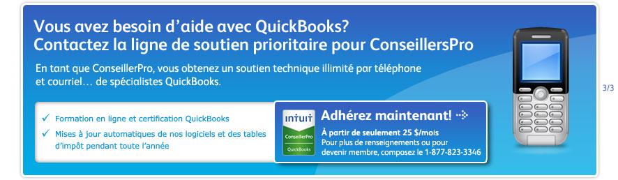 Vous avez besoin d'aide avec QuickBooks? Contactez la ligne de soutien prioritaire pour ConseillersPro - 1-877-823-3346