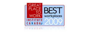 En Anglais Seulement: Great Place To Work Institute 2009