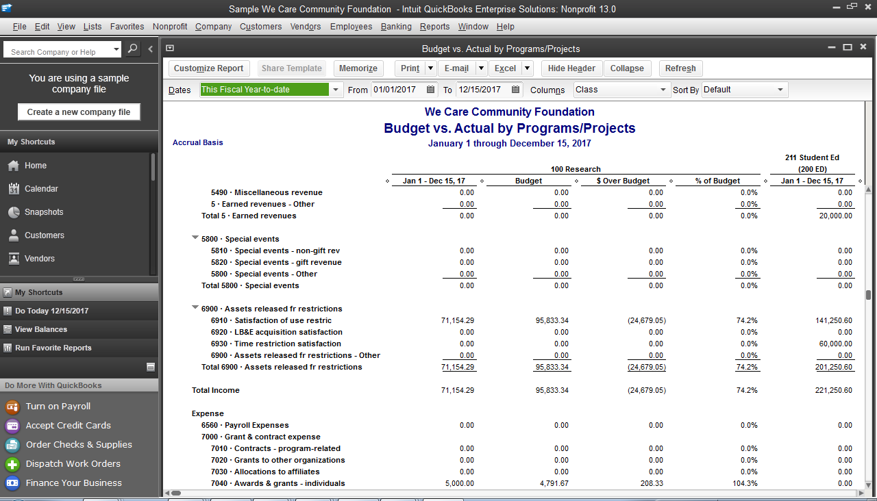 Nonprofit Accounting Software > QuickBooks® Enterprise ... - photo#36