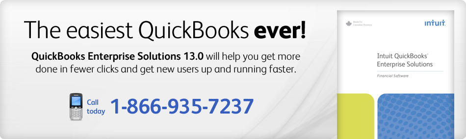 New - QuickBooks Enterprise Solutions 13.0! Call 1-888-829-8589