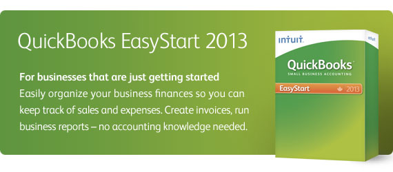 QuickBooks EasyStart - For businesses that are just getting started
