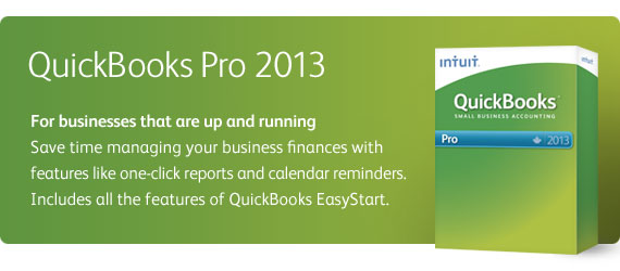 QuickBooks Pro - For up and running businesses.