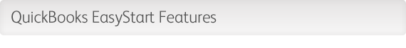 QuickBooks EasyStart Features