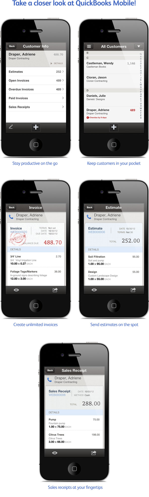 Screenshots - QuickBooks Mobile