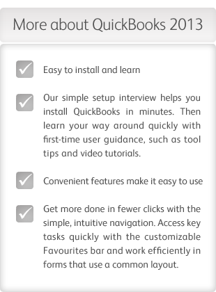 More about QuickBooks 2013