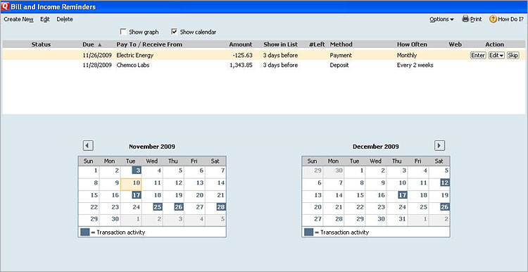 Quicken Cash Manager Screenshot