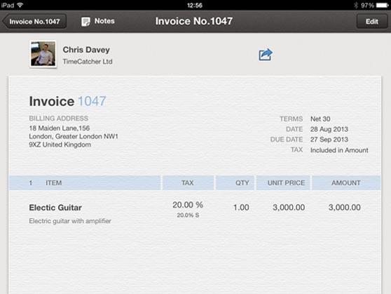 Quickbooks mobile apps for Ipad invoicing quickbooks