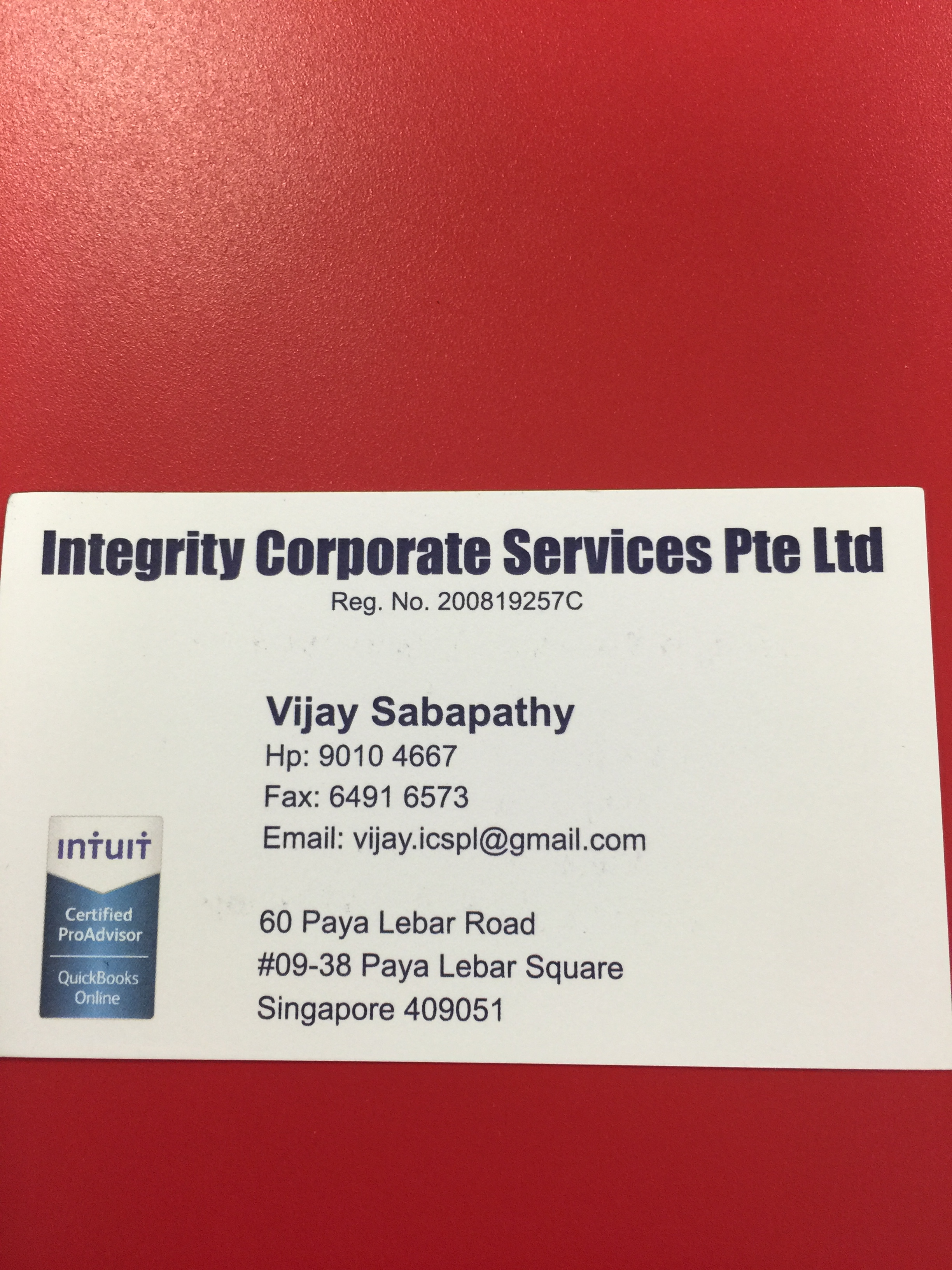 Integrity Corporate Services Pte Ltd