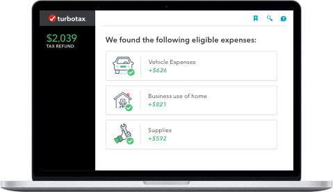 Laptop showing expenses found