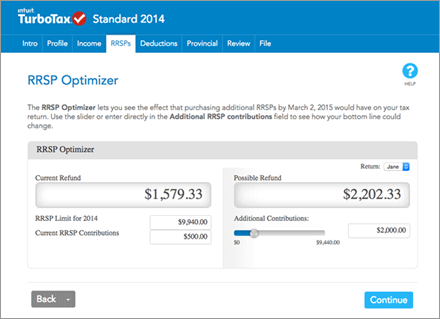 Optimize your RRSPs on TurboTax Online