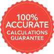 100% accurate calculations