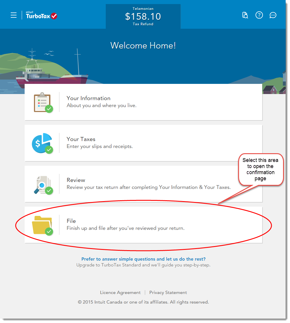 Turbotax Free File Menu On Welcome Page
